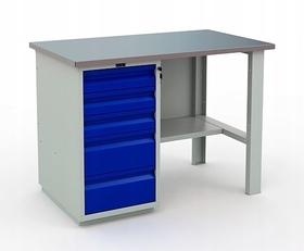 Stół warsztatowy PRAKTIK WT-120/WD5/F1.000