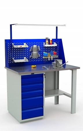 Stół warsztatowy PRAKTIK WT-120/WD5/F1.011