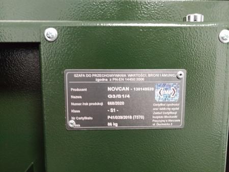 Szafa na broń i amunicję G3/S1/4 klasa S1 NOVCAN (5)