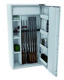 Szafa na broń CERTYFIKAT S1 KONSMETAL 150D/10+4  zamek elektroniczny