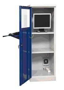 Szafa ochronna na komputer przemysłowy MALOW SmK 2 z wentylatorem i listwą (2)
