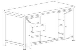 Stół roboczy warsztatowy na narzędzia MALOW STW403