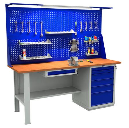 Stół roboczy warsztatowy PRAKTIK WS-200/WS0/WS6 (1)