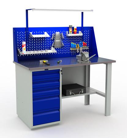 Stół roboczy warsztatowy PRAKTIK WT-140/WD5 (1)