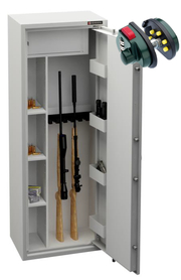 Szafa na broń KONSMETAL MLB150D/6+4 + BLOKADA SPUSTU