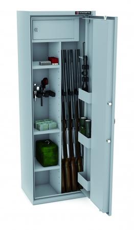 Szafa na broń KONSMETAL 150D/4+4 CERTYFIKAT S1 (2)
