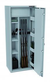 Szafa na broń CERTYFIKAT S1 KONSMETAL 150/6+4/D