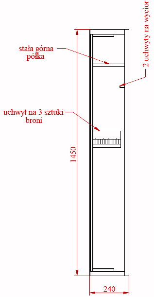 Szafa na broń MLB 150P/3 E zamek ELEKTRONICZNY (2)